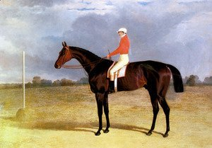 John Frederick Herring Snr - A Dark Bay Racehorse with Patrick Connolly Up
