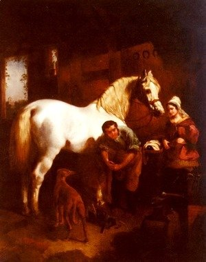 John Frederick Herring Snr - The Village Blacksmith