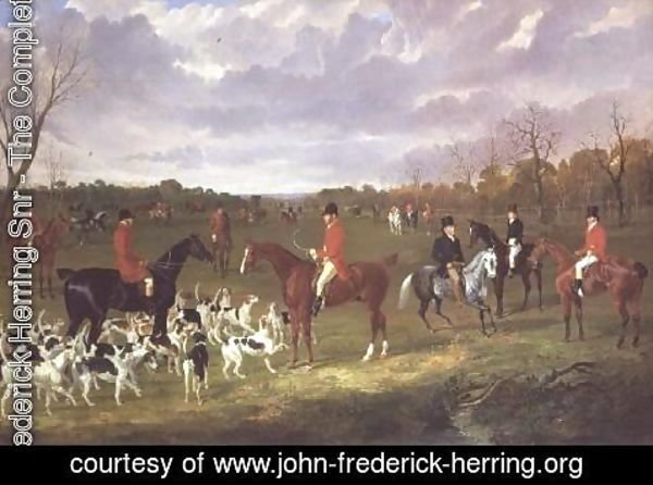 John Frederick Herring Snr - The Meet of the East Suffolk Hounds at Chippenham Park