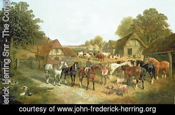 John Frederick Herring Snr - An English Homestead