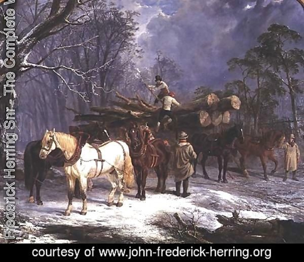 John Frederick Herring Snr - The woodcutters