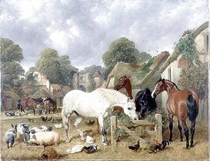 Horses in a Paddock, 1852