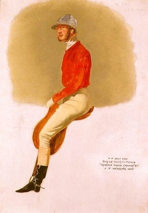 John Frederick Herring Snr - Portrait sketch of P.P. Rolt Esq. for 'Steeple Chase Cracks', 1846