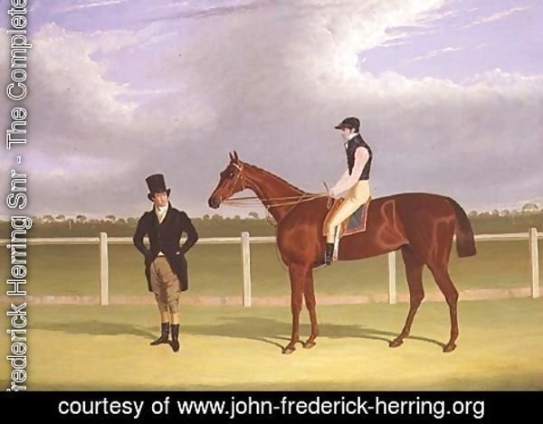 John Frederick Herring Snr - The Hon. E. Petre's 'Rowton', winner of the St. Leger with Bill Scott up, 1829