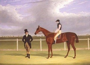 The Hon. E. Petre's 'Rowton', winner of the St. Leger with Bill Scott up, 1829