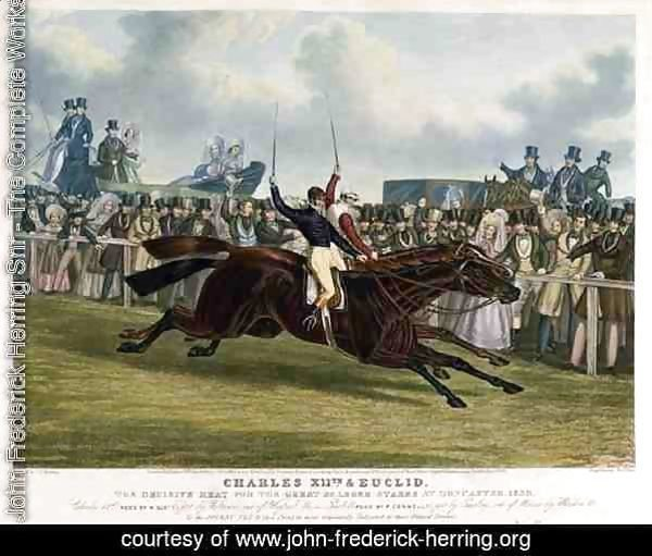 'Charles XII' and 'Euclid', The Decisive Heat for the Great St. Leger Stakes at Doncaster, 1839