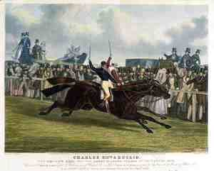 John Frederick Herring Snr - 'Charles XII' and 'Euclid', The Decisive Heat for the Great St. Leger Stakes at Doncaster, 1839