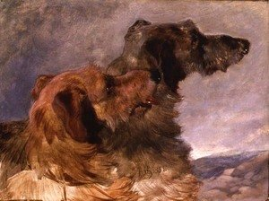 Two Deerhounds, 1851