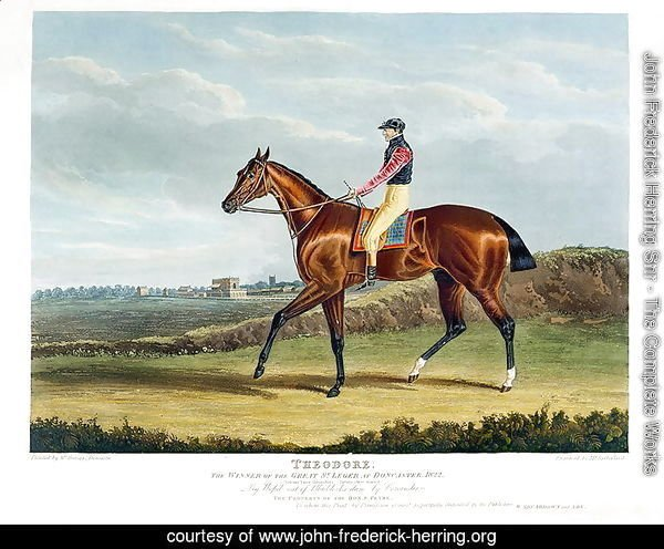 'Theodore', the Winner of the Great St. Leger at Doncaster, 1822