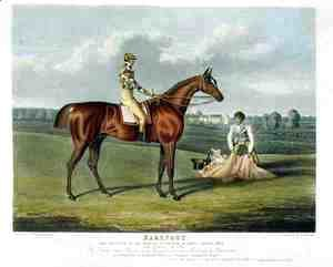 'Barefoot', the Winner of the Great St. Leger at Doncaster, 1823