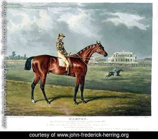 'Memnon', the Winner of the Great St. Leger at Doncaster, 1825