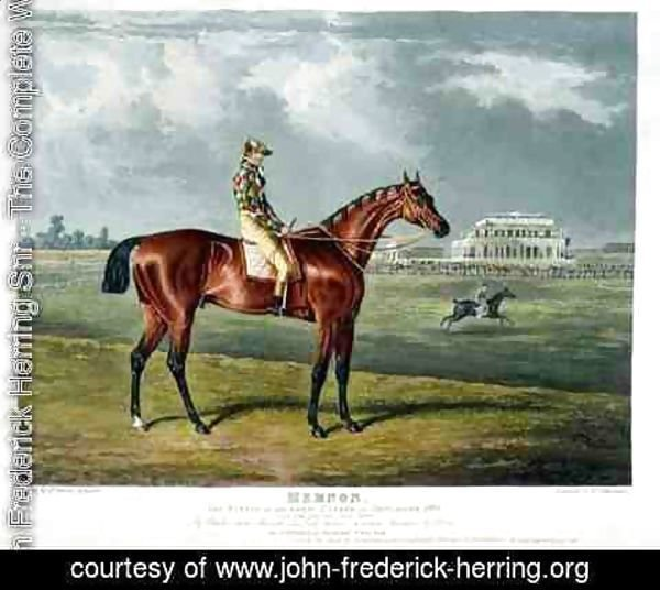 John Frederick Herring Snr - 'Memnon', the Winner of the Great St. Leger at Doncaster, 1825