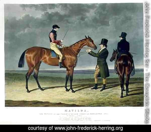 'Matilda', the Winner of the Great St. Leger Stakes at Doncaster, 1827