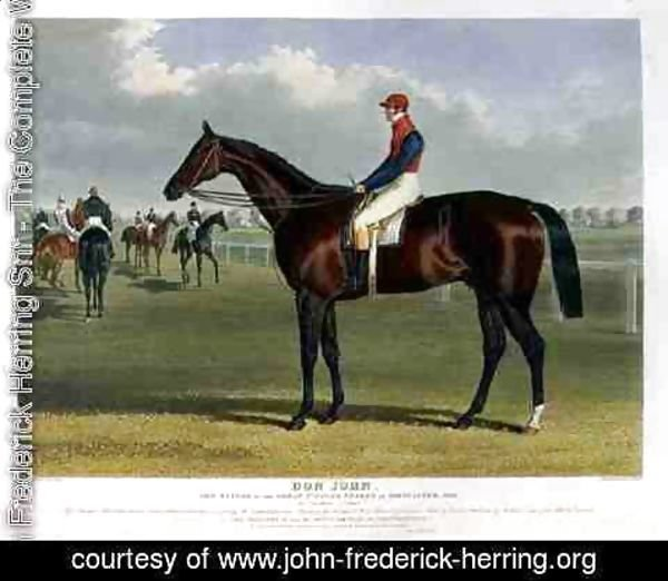 John Frederick Herring Snr - 'Don John', the Winner of the Great St. Leger Stakes at Doncaster, 1838