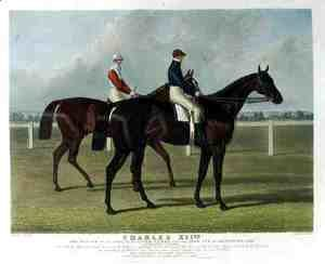 'Charles XII', the Winner of the Great St. Leger Stakes at Doncaster, 1839