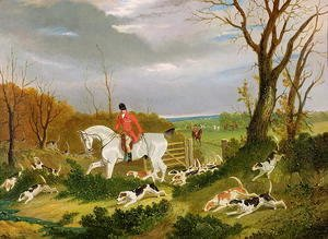John Frederick Herring Snr - The Suffolk Hunt - Going to Cover near Herringswell
