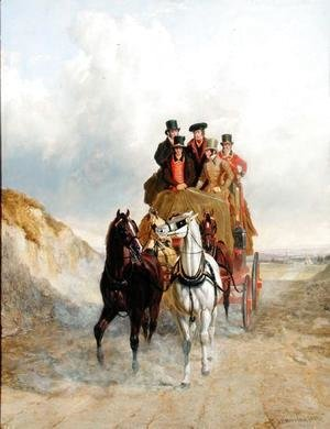 John Frederick Herring Snr - The Royal Mail Coach on the Road, 1841