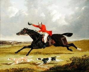 John Frederick Herring Snr - Encouraging Hounds, 1839