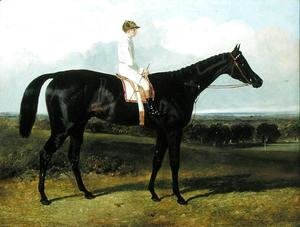 John Frederick Herring Snr - 'Jonathan Wild', a Dark Bay Race Horse, at Goodwood, T. Ryder up, 1846