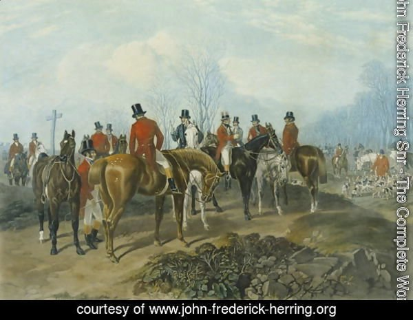 The Meet, engraved by Huffman and Mackrill