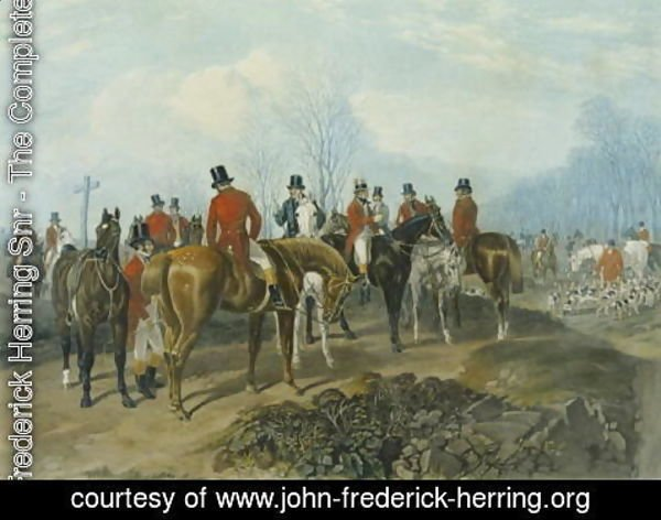 John Frederick Herring Snr - The Meet, engraved by Huffman and Mackrill