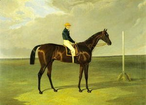 John Frederick Herring Snr - 'Sluggard' with Flatman Up, 1832