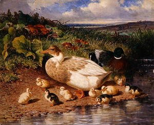 Ducks by a Stream, 1863