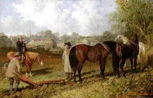 John Frederick Herring Snr - Morning: Preparing to Plough, 1848