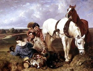 John Frederick Herring Snr - Barney, leave the girls alone, 1850