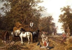 John Frederick Herring Snr - The Timber Waggon, 1858