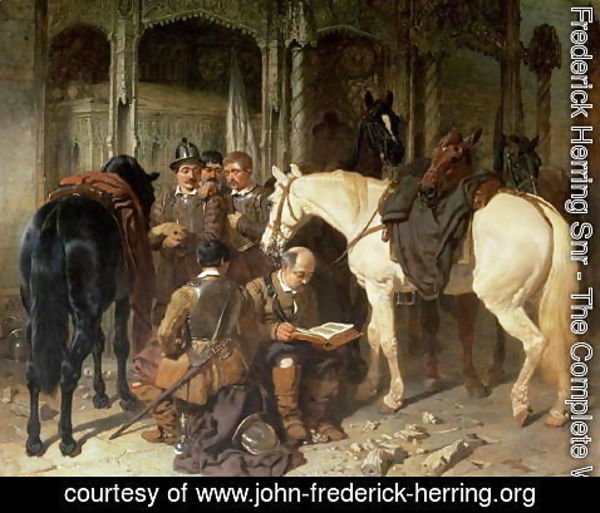 John Frederick Herring Snr - Roundheads at an Arundel Church, 1847-51