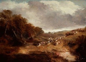 John Frederick Herring Snr - The Cambridgeshire Hunt: Full Cry, 1845