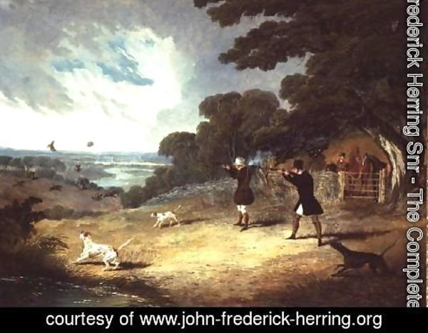 John Frederick Herring Snr - Partridge shooting at Six Mile Bottom
