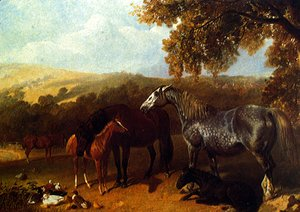 John Frederick Herring Snr - A Farmyard With Numerous Animals