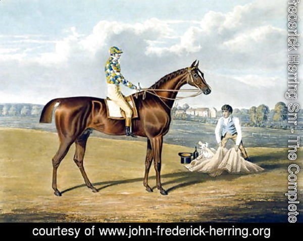 John Frederick Herring Snr - Barefoot, Winner of the St Leger, engraved by Thomas Sutherland