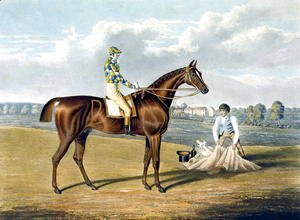 Barefoot, Winner of the St Leger, engraved by Thomas Sutherland