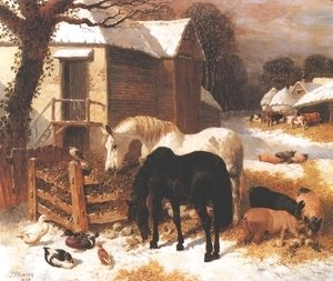 Barnyard In Winter