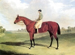 John Frederick Herring Snr - Bay Middleton With Jockey Up at Six Mile Bottom 1836