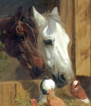 John Frederick Herring Snr - Best of Friends Detail 1847