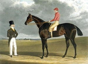 John Frederick Herring Snr - Birmingham, Winner of The St Leger, 1830, engraved by R.G. Reeve, 1831