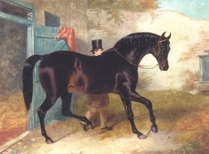 John Frederick Herring Snr - Dark Bay Racehorse by Stable