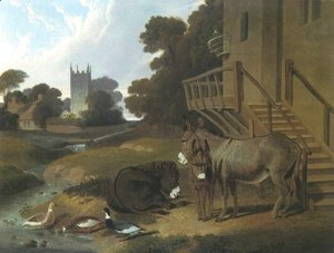 John Frederick Herring Snr - Donkey And Ducks 1833