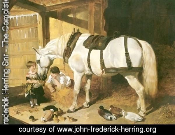 John Frederick Herring Snr - Feeding Time