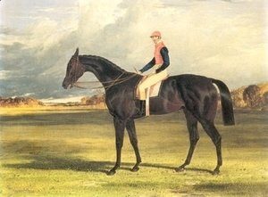Filly Industry with Jockey Up 1838