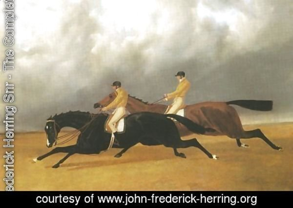 Finish Of Doncaster St Leger 1840