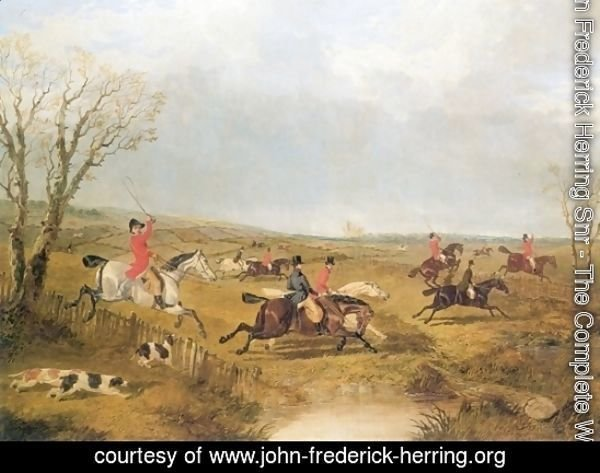 Full Cry Foxhunting Print 1844