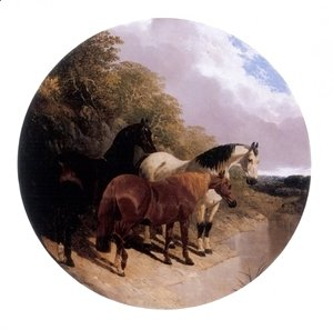 Horses Beside a River 1850
