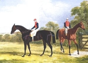 John Frederick Herring Snr - Industry and Caroline With Jockeys Up