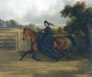 John Frederick Herring Snr - Lady Rush Out Riding Sidesaddle 1843