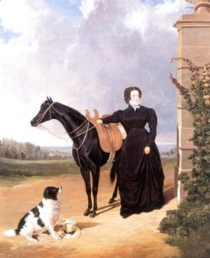 Lady With Her Mount and Spaniel 1823